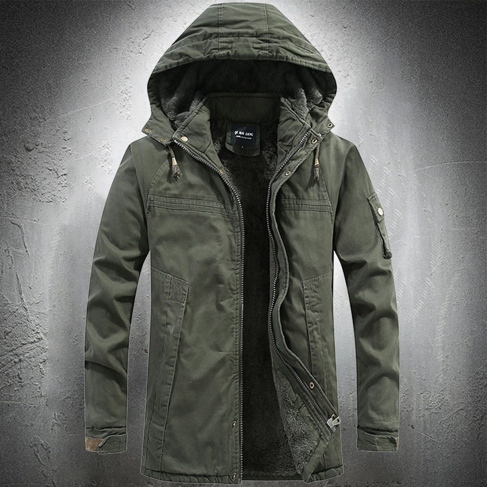 Army Green Military Jacket Outdoor Parka Coat Tactical Cotton Coat Winter Jacket Men Fashion Coat Clothing High Quality Thicken