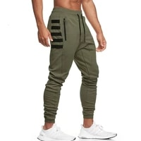 running jogging pants mens cotton bodybuilding workout trousers joggers sweatpants trackpants gym fitness training sports pants