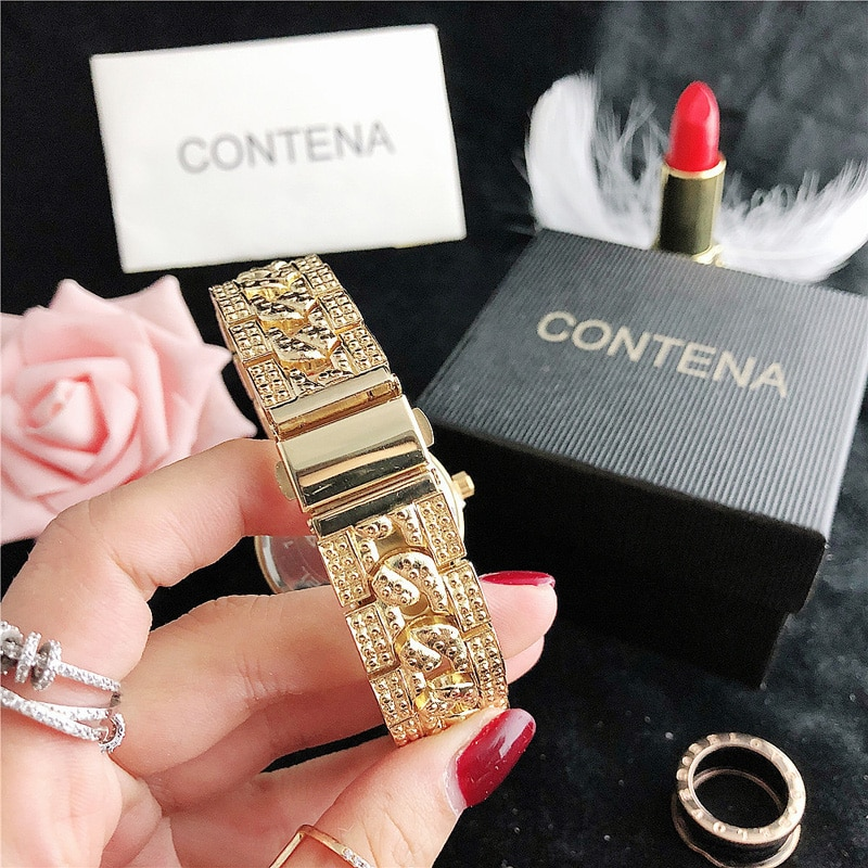 YUNAO 2021 New Fashion Trend Women's Watch Diamond Alloy Fashion Steel Belt Watch Classic Casual Business Quartz Watch enlarge