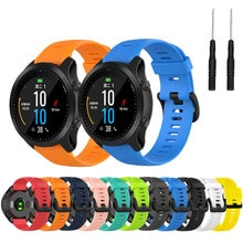 22mm WatchBand for For Garmin Forerunner 945 935 Fenix 5 Plus Fenix 6 Silicone Smart Watch Band Outd