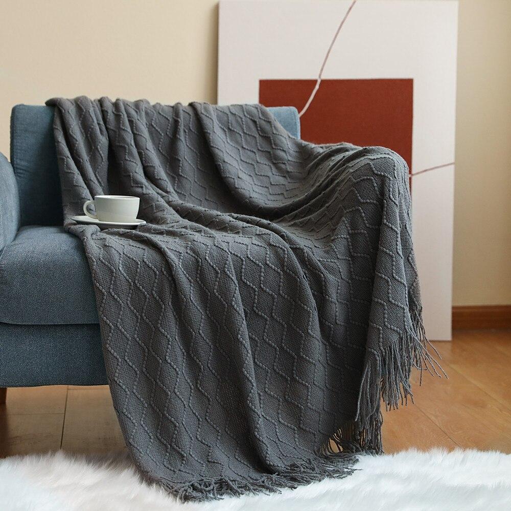 Cobertores de Cabeceira Estilo Jacquard Tricô Lance Cobertor Cama Sofá Toalha Escritório Resto Nap ar Condicionado Jogar Casa Têxtil Ins