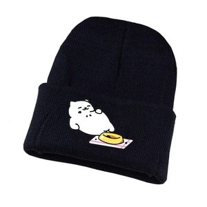 Anime Neko Atsume Knitted Hat Cosplay Hat Unisex Print Adult Casual Cotton Hat Teenagers Winter Knitted Cap