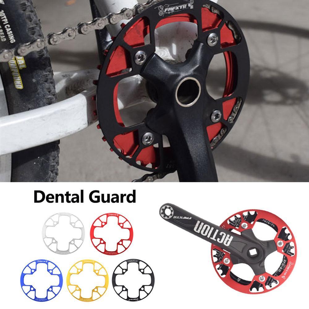 Accesorios de bicicleta piñón de la bicicleta cubierta protectora del cigüeñal de aluminio 40 T/42 T 104 mm