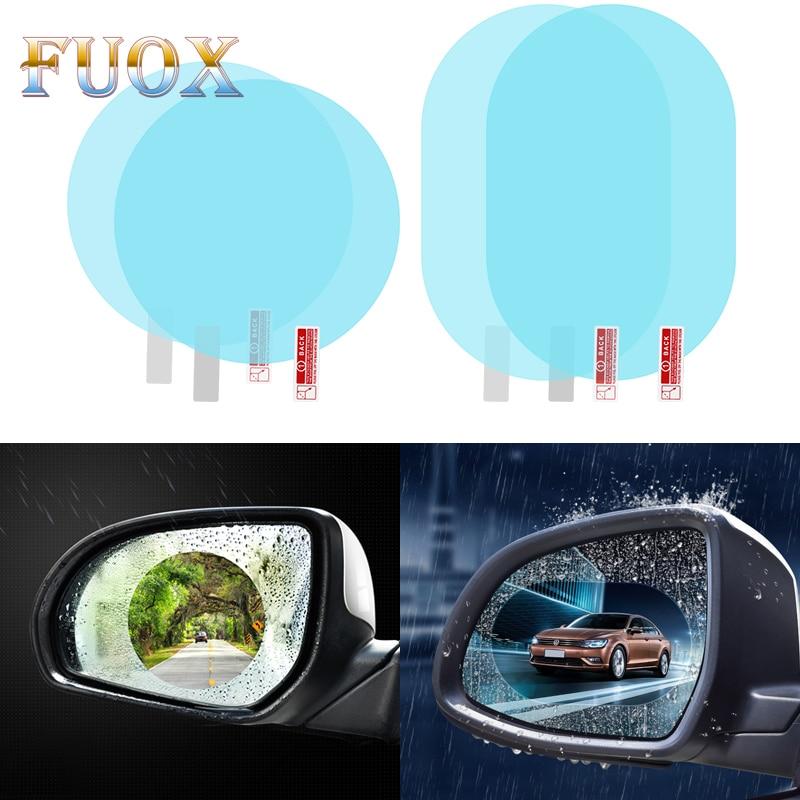 2 uds espejo retrovisor para coche, película antiniebla, capa Anti lluvia, impermeable, película impermeable, láminas protectoras para ventana de coche, estilo de coche