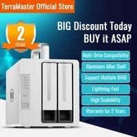 terramaster td2 thunderbolt 3 plus 7 in 1 thunderbolt 3 dock with raid storage external hard drive enclosurediskless