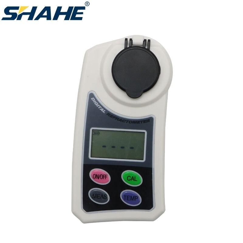 Shahe digital refratômetro 0 meter 55% brix medidor para frutas, legumes, bebidas, processamento de alimentos, cerveja, vinho