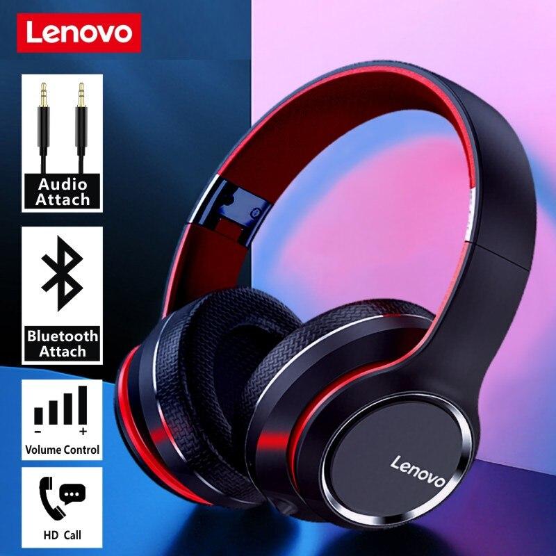 Fones de Ouvido Hd200 sem Fio Lenovo Bluetooth Subwoofer Esportes Correndo Fone Unisex Redução Ruído Chamada Vídeo 5.0