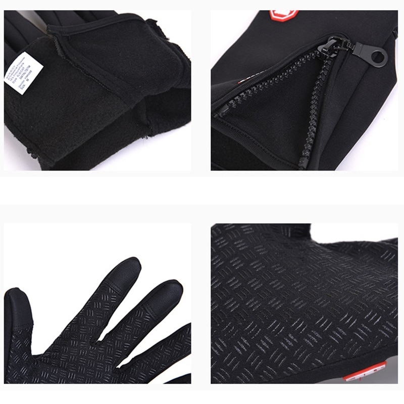 Anti-Slip Fishing Gloves Full Finger Breathable Durable Fishing Cycling Camping Accessories Screen Touch Waterproof Fleece enlarge