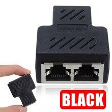 RJ45 Splitter Extender Plug RJ45 1 naar 2 Way Dual Vrouwelijke LAN Ethernet Netwerk Kabel Connector RJ45 Splitter Adapter