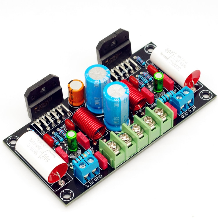 68 واط + 68 واط 2-way LM3886 مكبر كهربائي مجلس لتقوم بها بنفسك عدة الصوت مكبر كهربائي المجلس