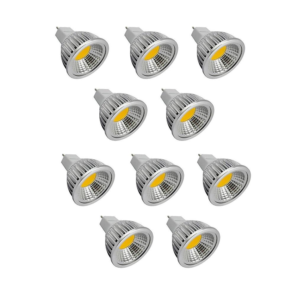 10pcs lot mr16 led spot light glass body ac dc12v 5w dimmable cob led spotlight bulb warm white cold white 10pcs MR16 Spotlight Bulb AC/DC12V 6/9/12W Warm/Cool White COB LED Lamp Downlight