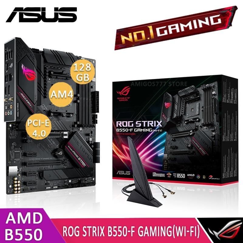 مقبس AM4 آسوس ROG STRIX B550-F الألعاب (واي فاي) اللوحة AMD B550 DDR4 128GB PCI-E 4.0 متر. 2 SSD تشاي B550 الألعاب بلاسا-mv1 e AM4