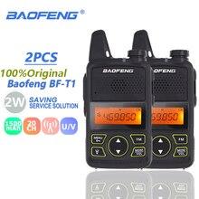 2pcs Baofeng BF-T1 Mini Walkie Talkie UHF Kids Two Way Radio Baofeng T1 Ham Radio HF BF T1 Walky Talky USB Charger FM Woki Toki