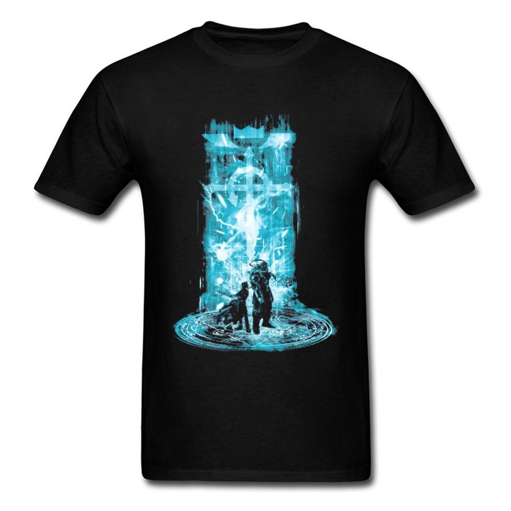 Camiseta japonesa de Anime Fullmetal Alchemist, camiseta de hombre Edward Alphonse Machine Arm Comic, divertidas camisetas para chico, ropa de buena calidad