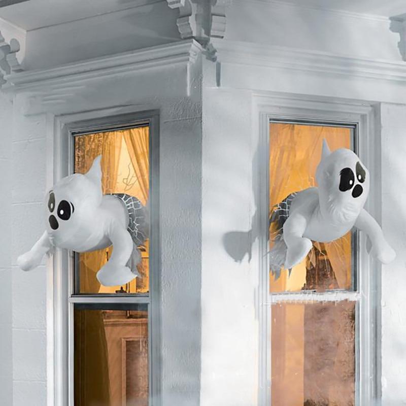 Украшение для окна на Хэллоуин, украшение для окна в виде призрака на Хэллоуин, уличное украшение для двери и окна на стену, 2022 год