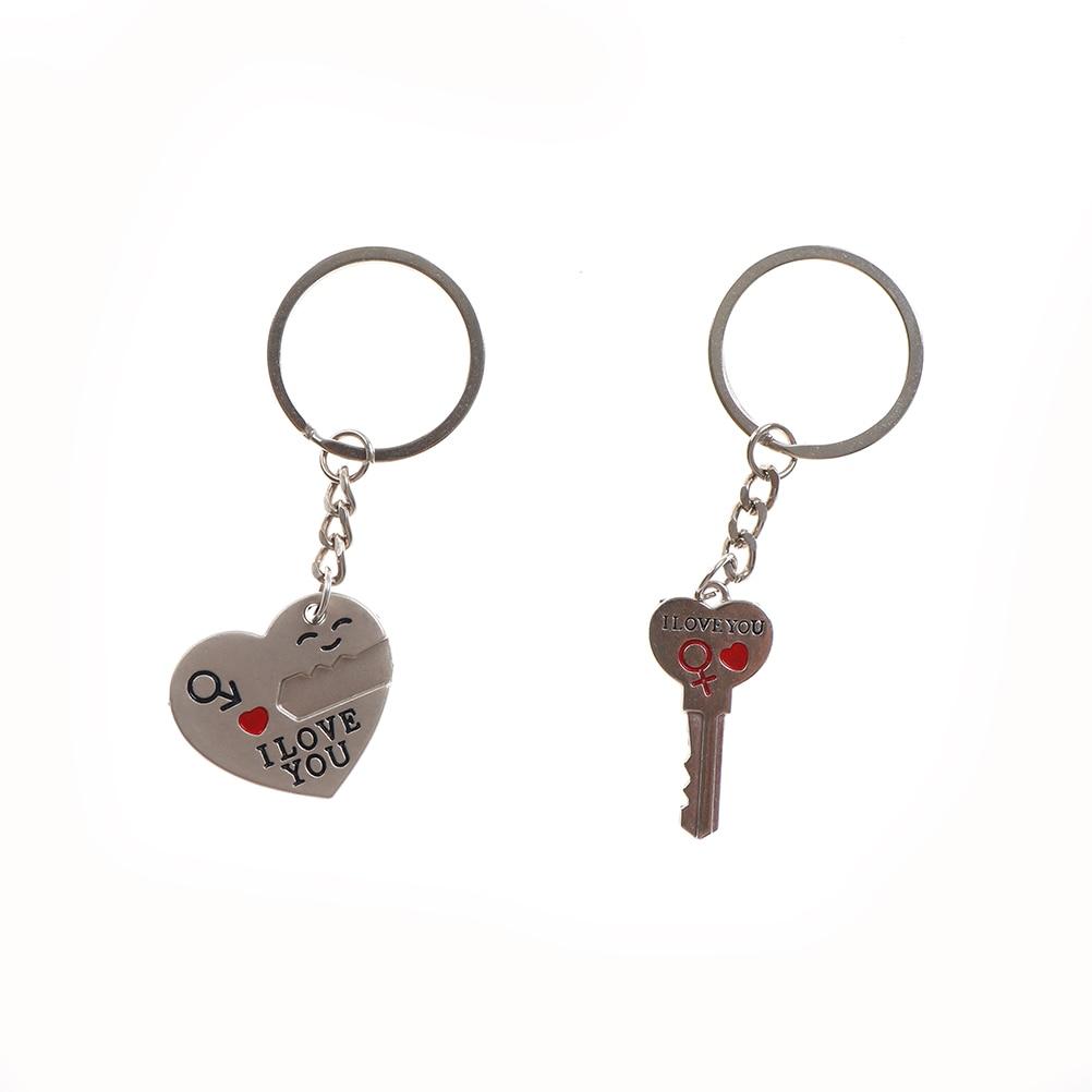Corazón 3,2 cm LLavero de 3,3 cm para pareja, bolso para mujer, joyería para boda, regalo para mujer, llavero, llaveros de corazón