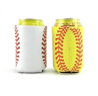 500pcs sports ball can cooler summer leopard neoprene bottle cooler wholesale can cover beer holder sn1078