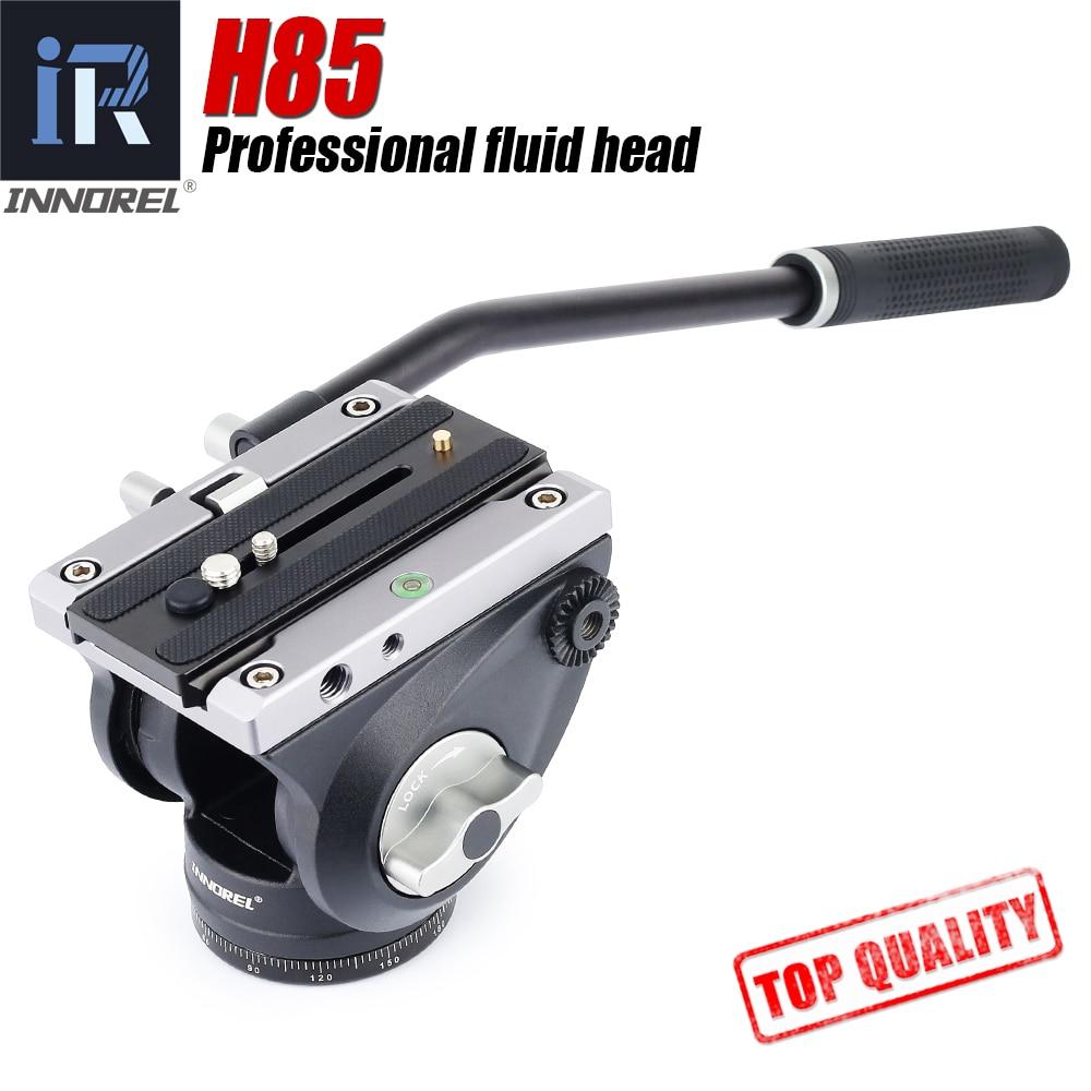 INNOREL-H85 رأس سائل فيديو ، كاميرا SLR ، ممتص هيدروليكي ، حامل ثلاثي القوائم بانورامي للفيديو