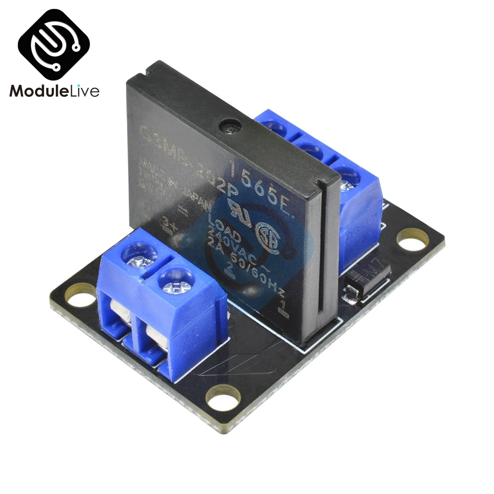 G3MB-202P 5V DC 1 Channel Solid-State Relay Board Module For Arduino High Level Fuse For Arduino SSR