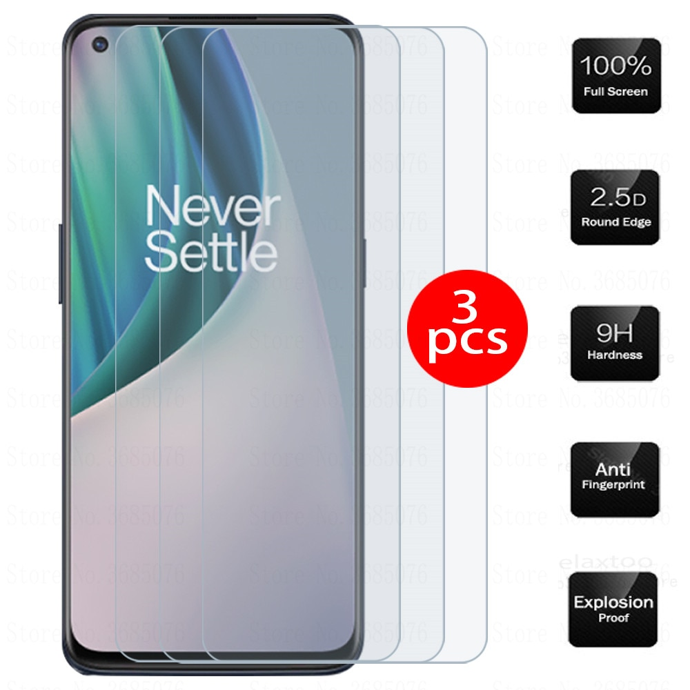 glass on one plus nord n10 smartphone 3pcs tempered glass for oneplus nord n10 5g n 10 screen protec