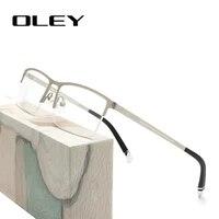 oley classic business optical glasses prescription glasses titanium alloy frame myopia hyperopia presbyopia glasses y7714