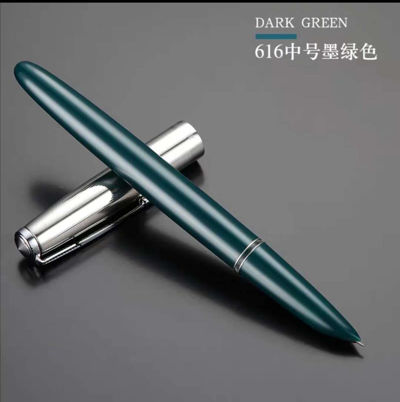 1pc Hero 616 Big Size/Doctor Dark Green Fountain Pen Plastic Ink Pen Fine Nib Stationery Office school supplies Writing Gift
