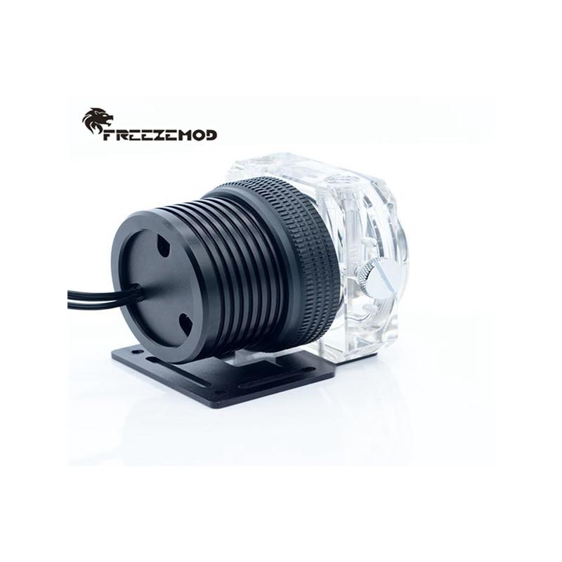 FREEZEMOD مضخة مياه التبريد D5 ، PWM RGB AURA مزامنة المعادن درع مجموعة المغناطيسي تعليق شفاف لنظام تبريد المياه
