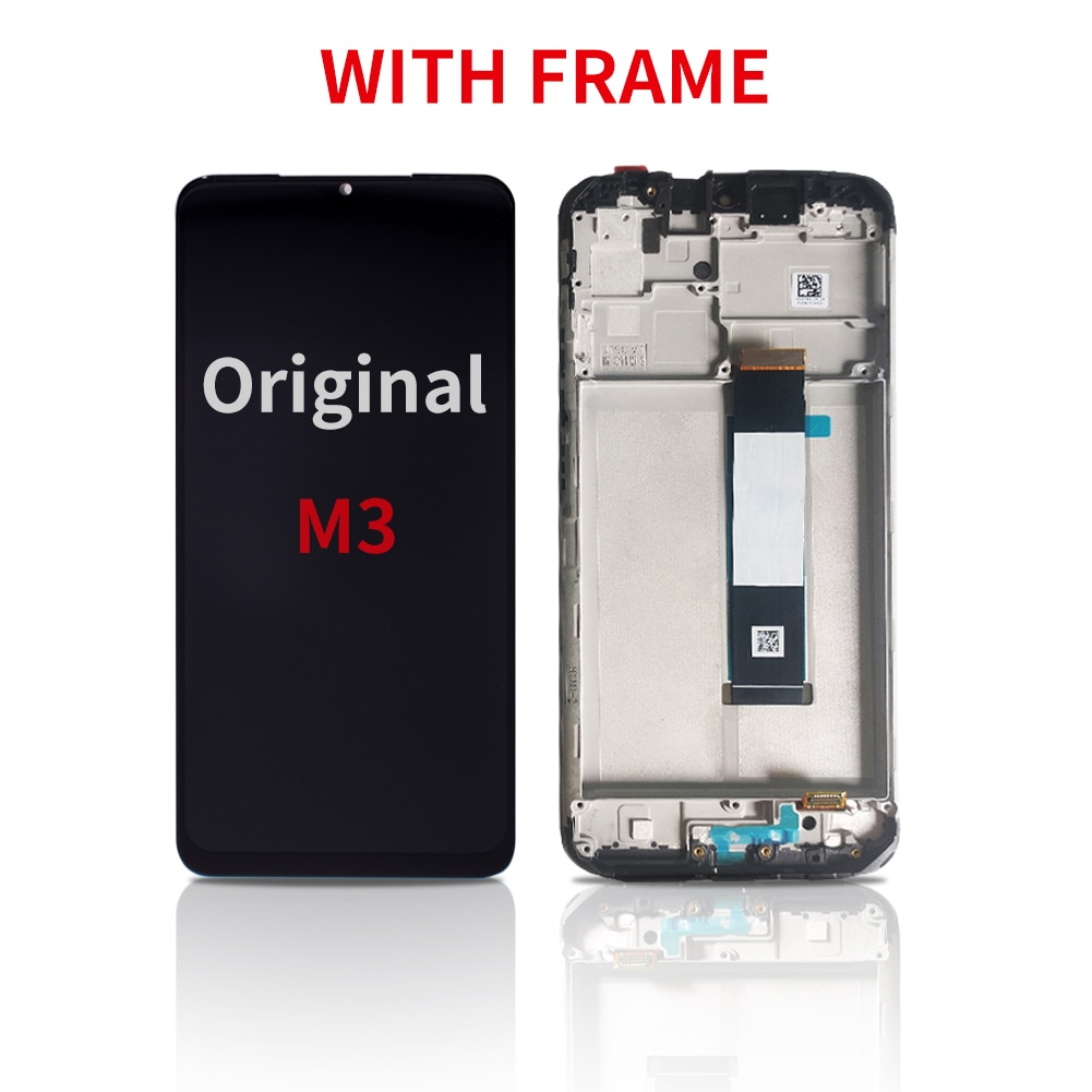 HOT 100% Super Black AMOLED  With Frame For Xiaomi POCO m3 Mobile Phone LCD Original Display Touch Screen Panel Replacement enlarge