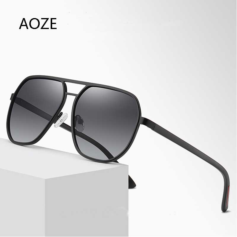 AOZE-gafas de sol polarizadas de Estilo Vintage para hombre, lentes de sol...