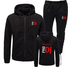 Fashion Pioneer Pro DJ Sweatshirt Club Wear Nexus Audio dj Hoodie Men Women Casual Fleece Mens Hoodies+Pants zipper Hoody Suit