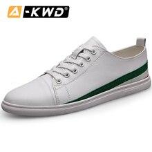 Fashion White Sneakers Men Genuine Leather Man Shoose Casual Mens Leather Shoes Zapatillas Blancas Hombre Simple Man Shoe 37-44