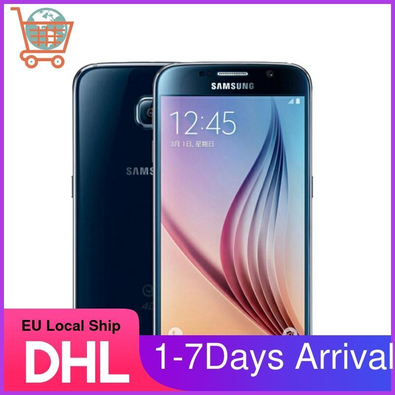Samsung S6 Refurbished-Original Unlocked S6 G920V G920P G920A G920F 4G LTE Phone 16MP Camera 32GB ROM Octa Core 5.1
