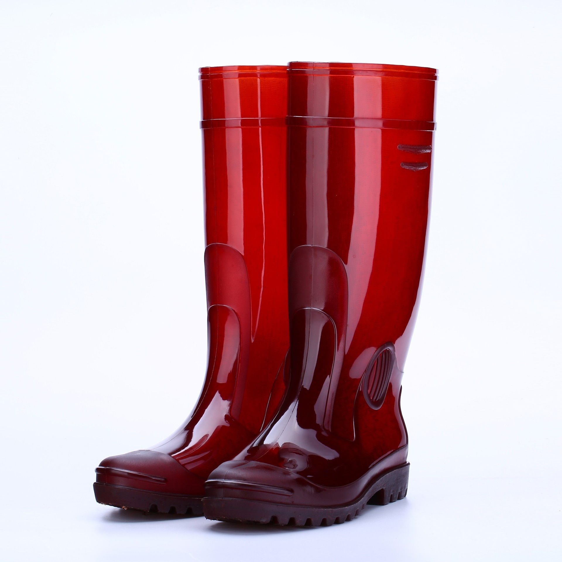 Botas de lluvia para hombre botas de agua para hombre botas de seguridad para el trabajo zapatos de plástico para trabajo impermeables antideslizantes ácido y álcali Re
