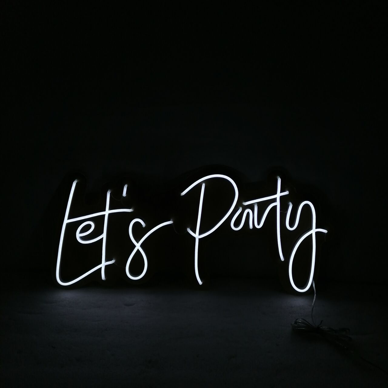 Custom Made Let's Party Lets LED Neon Sign Wall Lights Party Wedding Shop Window Restaurant Birthday Decor Custom Led Neon Sign enlarge