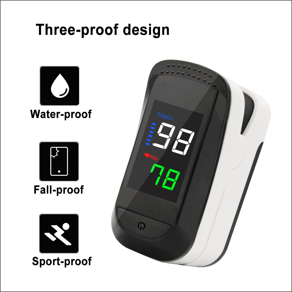 RZ Finger Pulse Oximeter Digital Pulsioximetro Portable Household Health Heart Rate SPO2 PR Monitor Fingertip OscillOmeter