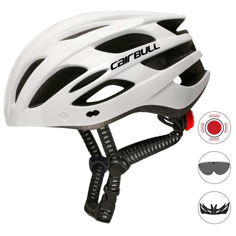Newest motorcycle Helmet With TT Lens & Visor Men Women Cycling Helmet With Rear Light Sports motorcucle Helmt Accessories