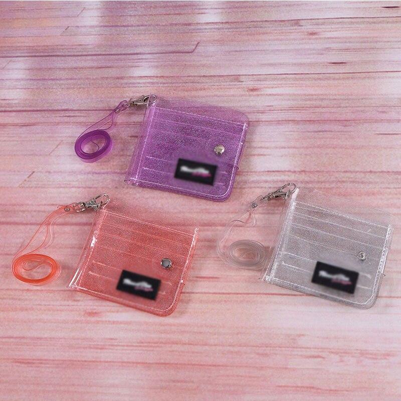 Transparent Credit Card Coin Purse Clutch Wallet Credit Card Holder PVC Card Holder Unisex Organizer