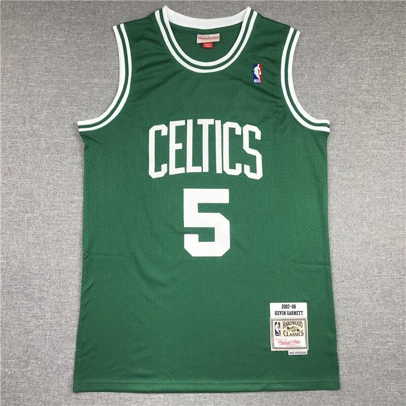 Camiseta de baloncesto de 5 celtas para hombre de ropa blanca de...