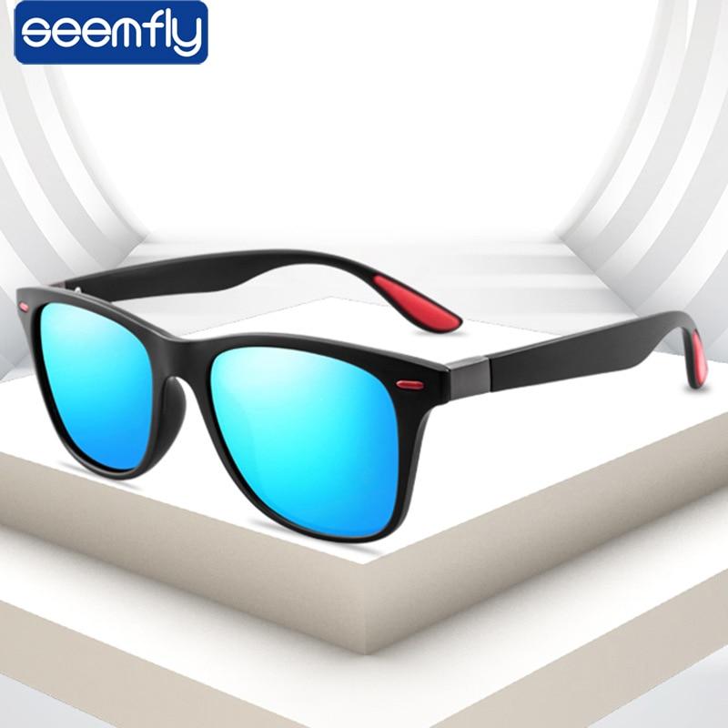 2021 New Hot Polarized Sunglasses Men Women Square Polarizing Eyewear Classic Vintage Brand Design UV400 Driving Sun glasses