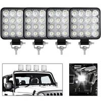 mini led 48w 7200 lm led work light bar square spot beam 24v 12v off road led light bar for truck 4x4 4wd car suv atv ip67