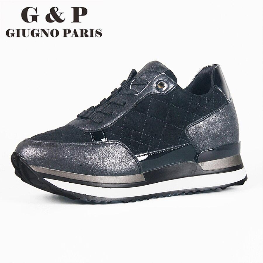 نعل جلد النساء مصمم أحذية رياضية فاخرة الشقق منصة حذاء كاجوال مريحة خفيفة الوزن أذن إيطاليا العلامة التجارية G & P