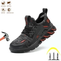 safety work shoes men anti puncture industrial steel toe boots boots comfortable lightweight breathable outdoor sneakers