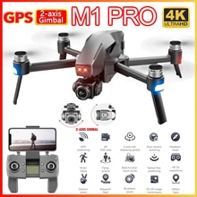 M1 Drone with Dual Camera 4K HD GPS 5G Wifi FPV 2 Axis Gimbal Brushless Professional Foldable RC Hel