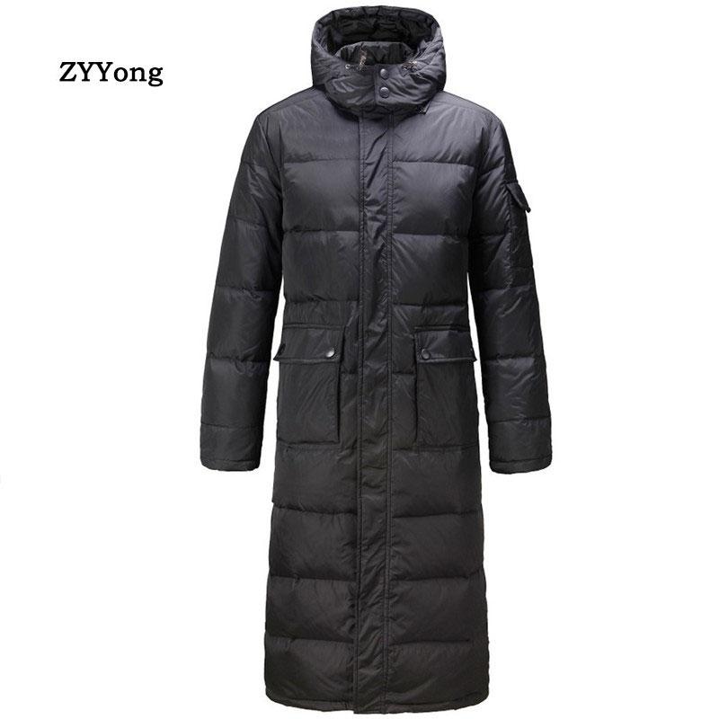 Мужская теплая парка с капюшоном, черная длинная водонепроницаемая куртка свободного покроя, теплая парка на осень и зиму, 2020