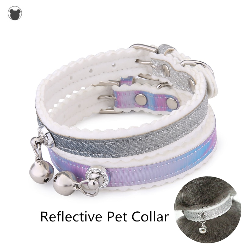 Collar reflectante para mascotas de tamaño ajustable adecuado para gatos pequeños y medianos suministros para mascotas 2020NEW