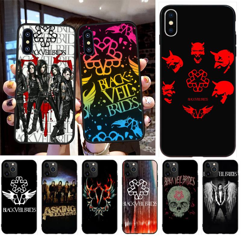 PENGHUWAN Black Veil Brides BVB Phone Case Cover for iPhone 11 pro XS MAX 8 7 6 6S Plus X 5S SE XR case