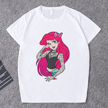 CZCCWD Summer Tops For Women 2019 Harajuku Thin Section Fashion T Shirt Funny Tattoo Princess Streetwear Leisure Printed Tshirt