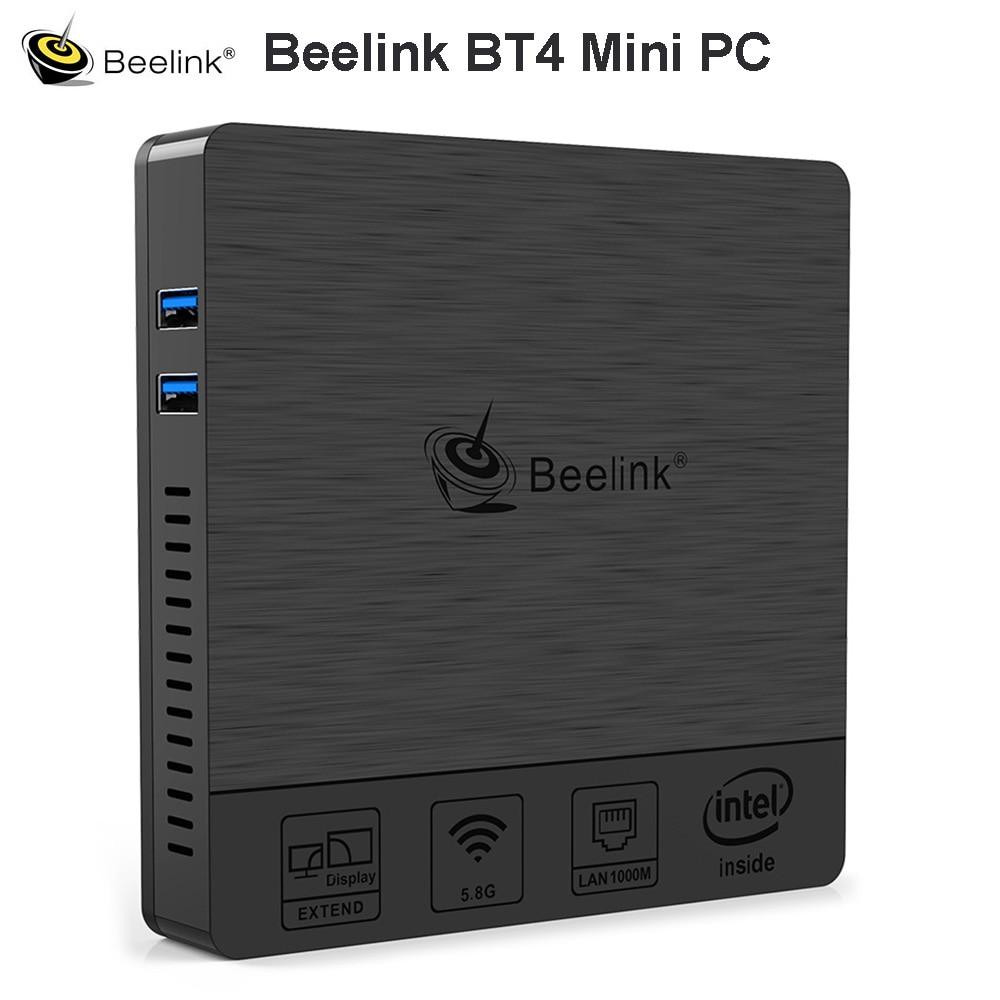 Beelink BT4 Desktop Mini PC With Intel Atom X5-Z8500 Intel HD Graphics 600 4G 64G 2.4&5.8GHz WiFi 1000Mbps USB3.0 BT4.0 4K