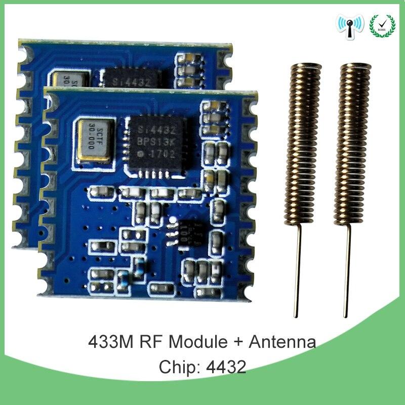 433 ميجا هرتز IOT وحدة لاسلكية 200 قطعة FSK اللاسلكية انتشار الطيف جهاز الإرسال والاستقبال استقبال IOT rf درع و 2 قطعة 433 ميجا هرتز هوائي