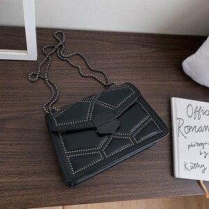 Bag Women's Bag 2019 Autumn/winter New Fashion Slantbag Tide One-shoulder Chain Small Square Bag Women Bag